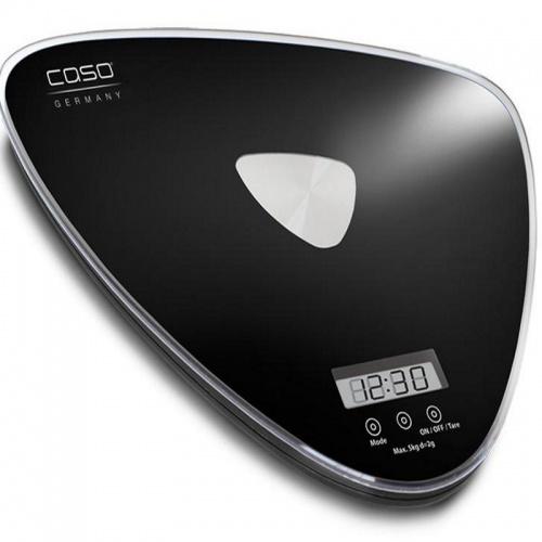 Cantar de bucatarie Caso,Waage Q5,5 kg,LCD,negru
