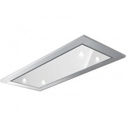 Hota de tavan incorporabila Baraldi Gea Glass 01GEA090STW, 90 cm, motor Kube 900 m3/h, sticla alba/inox
