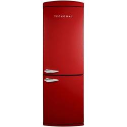 Combina frigorifica Deco Tecnogas COMBI22R, Clasa A+, 335 litri, Latime 60 cm, total No Frost, rosu