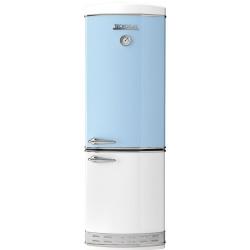 Combina frigorifica Tecnogas Frigo 1952 bicolor , Clasa A+, 335 litri, Latime 60 cm, total No Frost, verde-alb