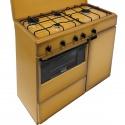 Aragaz Bompani Ecoline BI961YA/L, 85x45 cm, plita gaz, 4 arzatoare, aprindere electronica, cuptor gaz, grill electric, maro
