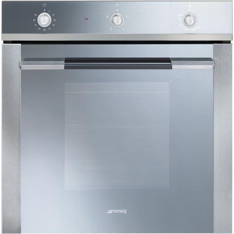 Cuptor incorporabil Smeg Linea SF102GVS, gaz , 8 functii, rotisor, 60cm, inox / sticla argintie