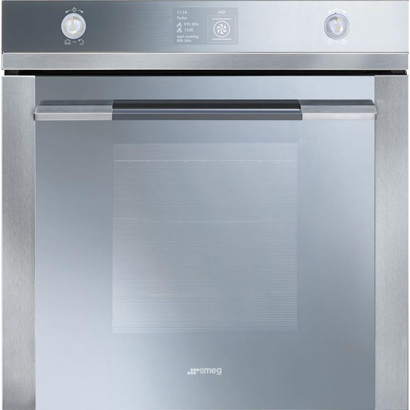 Cuptor incorporabil Smeg Linea SFP130E, electric, multifunctional, 60 cm, inox/sticla argintie, piroliza