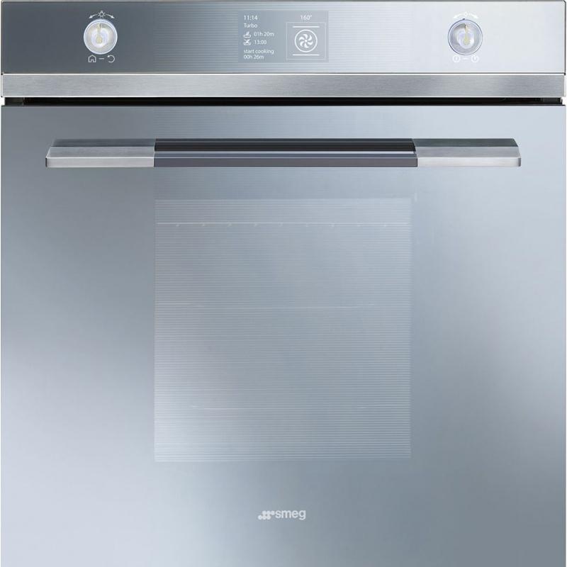 Cuptor incorporabil Smeg Linea SFP130SE, electric, multifunctional, 60 cm, sticla argintie, piroliza