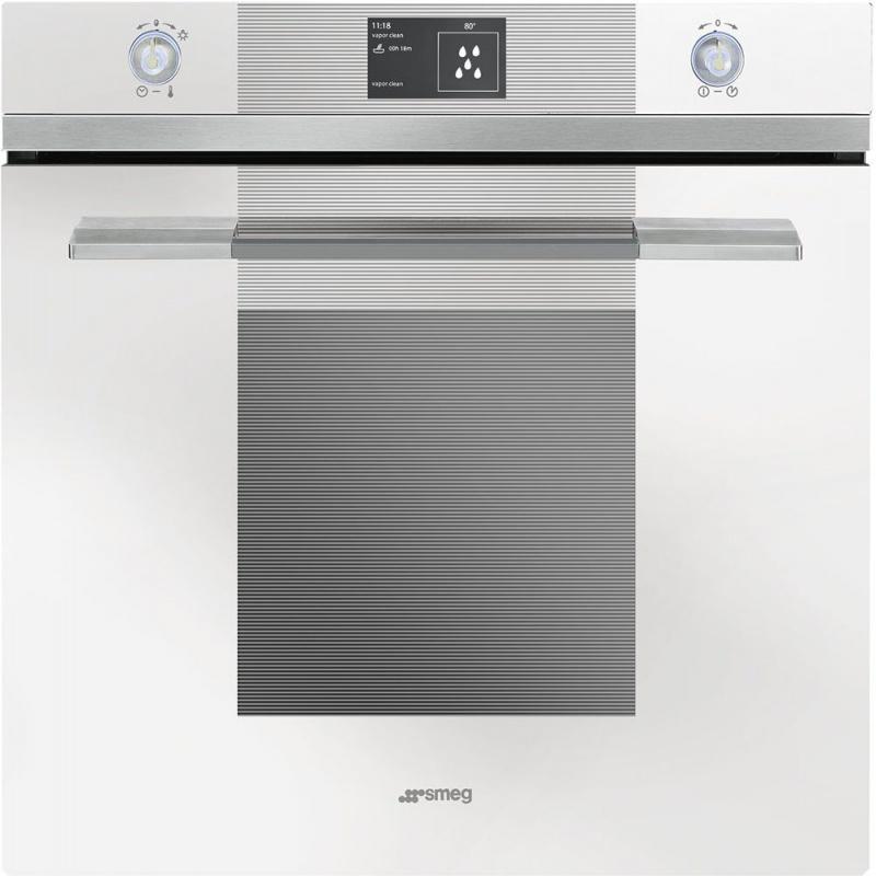 Cuptor incorporabil Smeg Linea SFP130BE, electric, multifunctional, 60 cm, sticla alba, piroliza