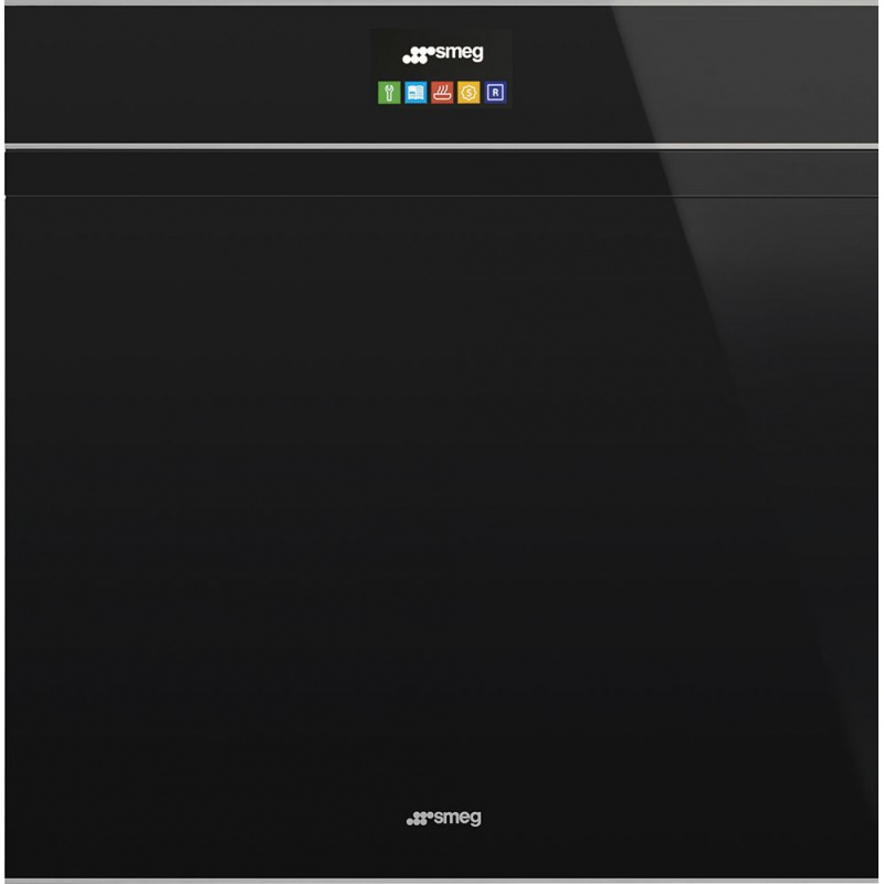 Cuptor incorporabil Smeg DOLCE SFP6604PNXE, electric, multifunctional, 60cm, sticla neagra, inox, piroliza