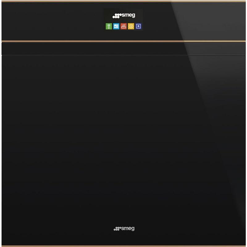 Cuptor incorporabil Smeg DOLCE SFP6604PNRE, electric, multifunctional, 60cm, sticla neagra, cupru, piroliza