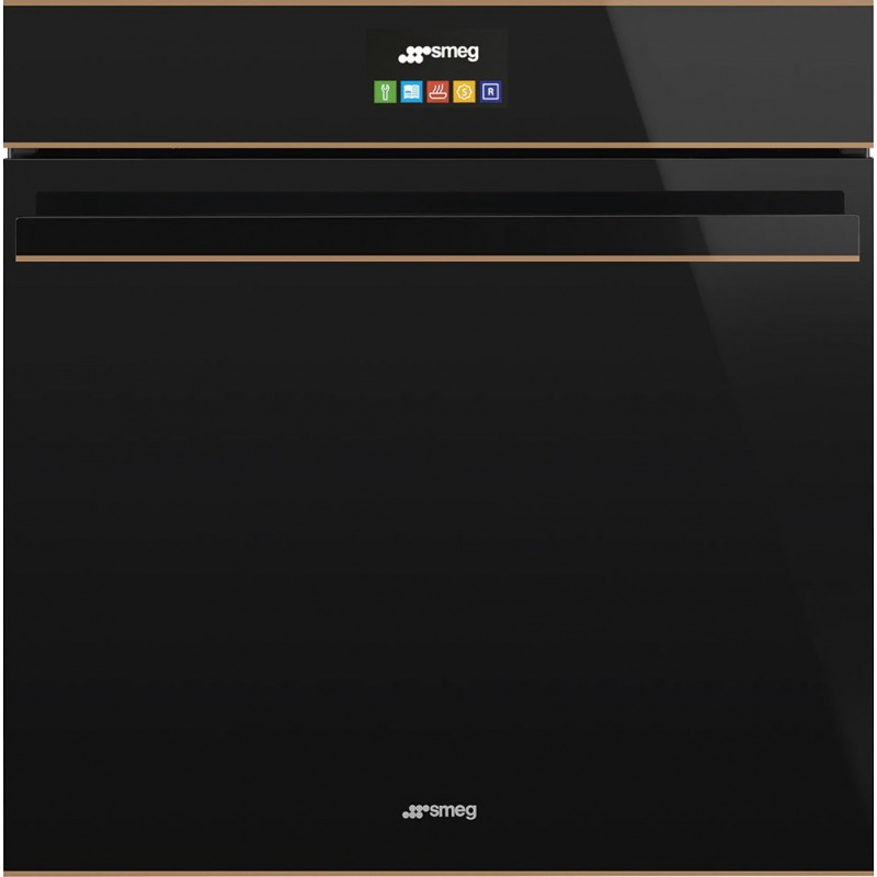 Cuptor incorporabil Smeg DOLCE SFP6604NRE, electric, multifunctional, 60cm, sticla neagra, cupru, piroliza