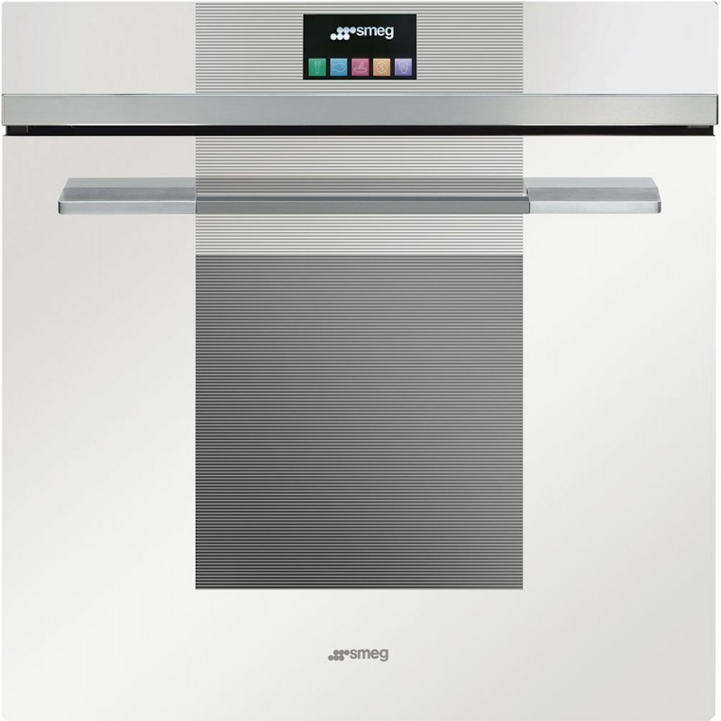 Cuptor incorporabil Smeg Linea SFP140BE, electric, multifunctional, 60 cm, sticla alba, piroliza