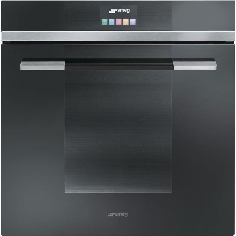 Cuptor incorporabil Smeg Linea SFP140NE, electric, multifunctional, 60 cm, sticla neagra, piroliza