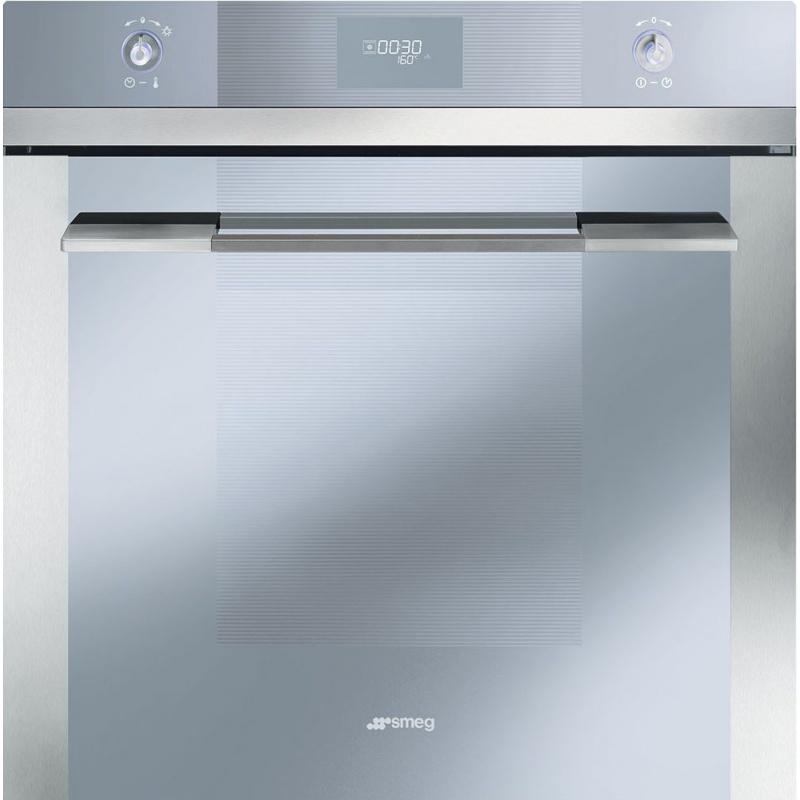 Cuptor incorporabil Smeg Linea SFP109, electric, multifunctional, 60 cm, inox / sticla argintie, piroliza