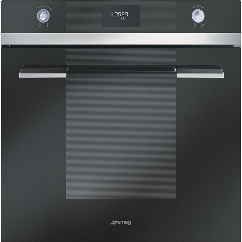 Cuptor incorporabil Smeg Linea SFP109N, electric, multifunctional, 60 cm, sticla neagra, piroliza