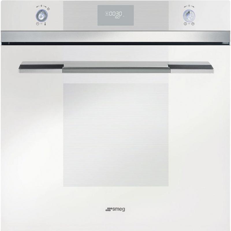 Cuptor incorporabil Smeg Linea SFP109B, electric, multifunctional, 60 cm, sticla alba, piroliza