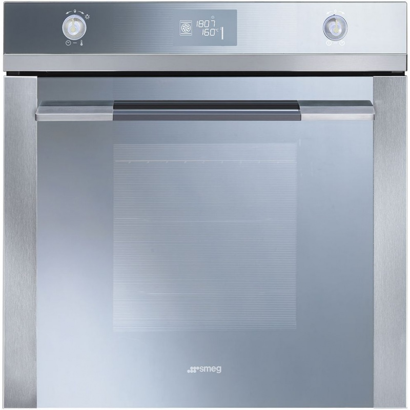 Cuptor incorporabil Smeg Linea SFP121E, electric, multifunctional, 60 cm, inox/sticla argintie, piroliza