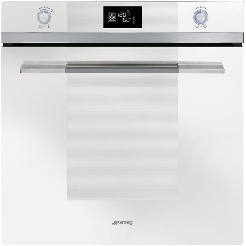 Cuptor incorporabil Smeg Linea SFP121BE, electric, multifunctional, 60 cm, sticla alba, piroliza