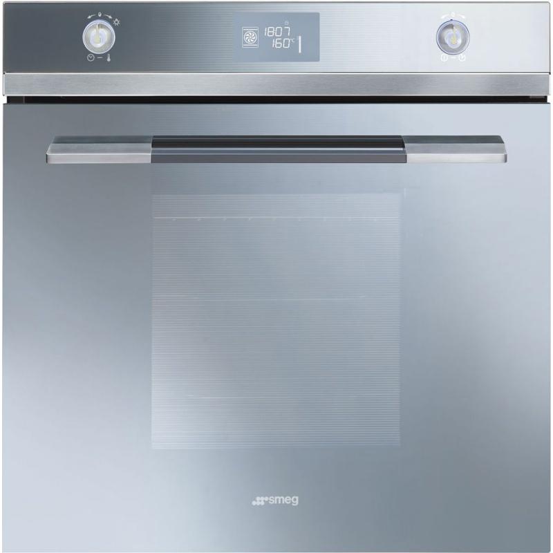 Cuptor incorporabil Smeg Linea SFP125SE, electric, multifunctional, 60 cm, sticla argintie, piroliza