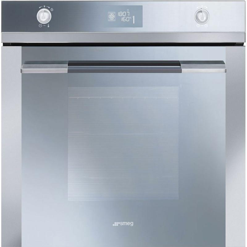 Cuptor incorporabil Smeg Linea SFP125E, electric, multifunctional, 60 cm, inox /sticla argintie, piroliza