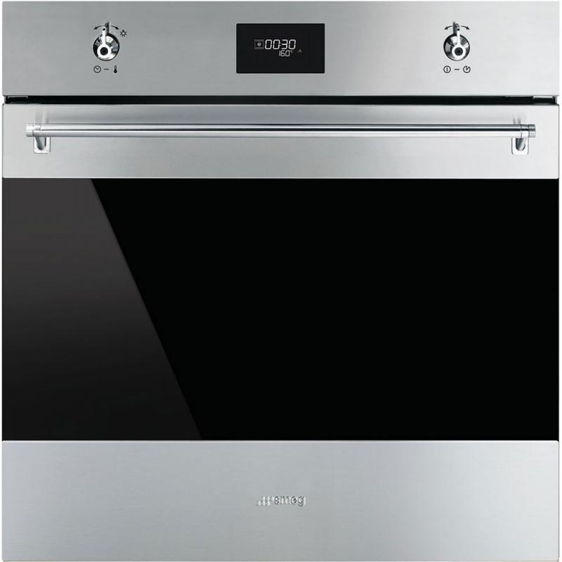 Cuptor incorporabil Smeg Classica SFP6372X, electric, multifunctional, 60cm, inox antiamprenta, piroliza