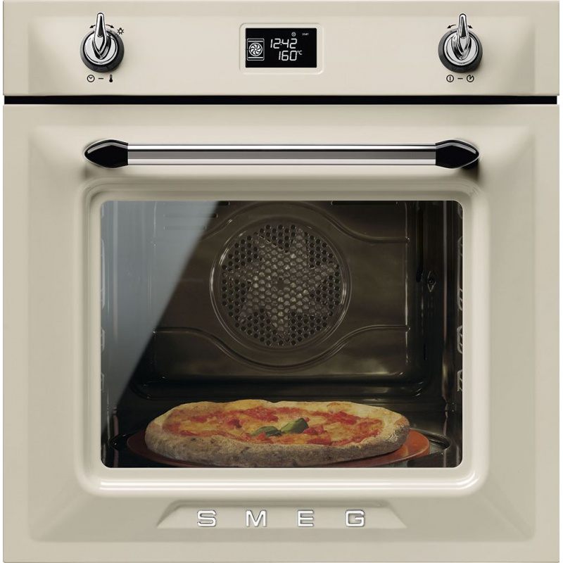 Cuptor incorporabil Smeg Victoria SF6922PPZE, electric, multifunctional, 60cm, crem, pizza
