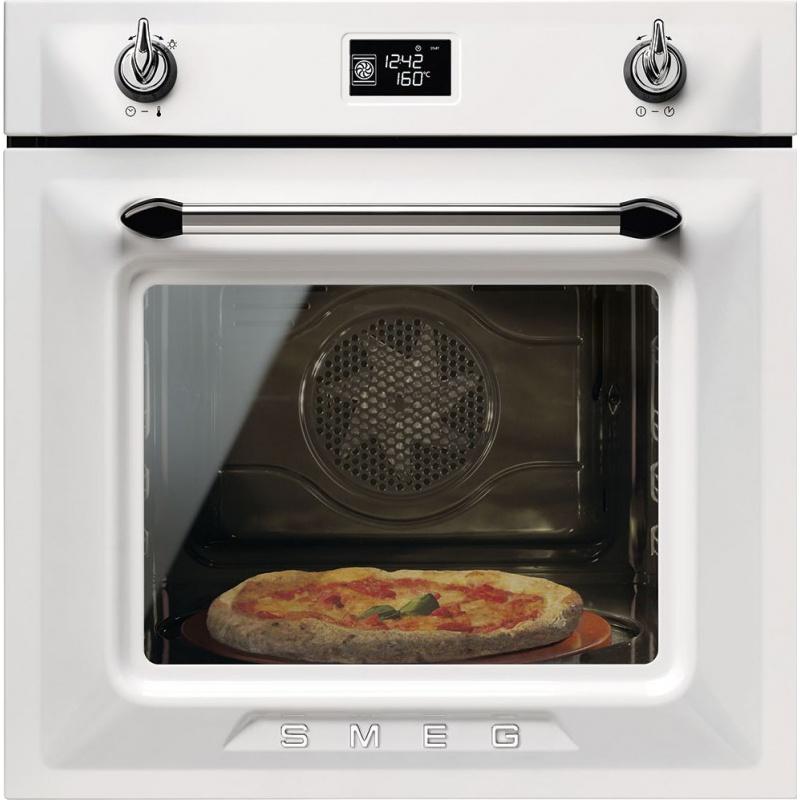 Cuptor incorporabil Smeg Victoria SF6922BPZE, electric, multifunctional, 60cm, sticla alba, pizza