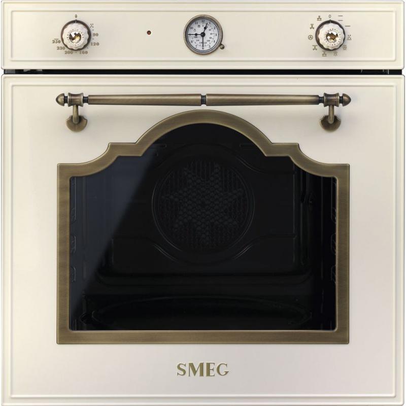 Cuptor incorporabil Smeg Cortina SF750POL, electric, multifunctional, 60cm, crem, cristale Swarovski