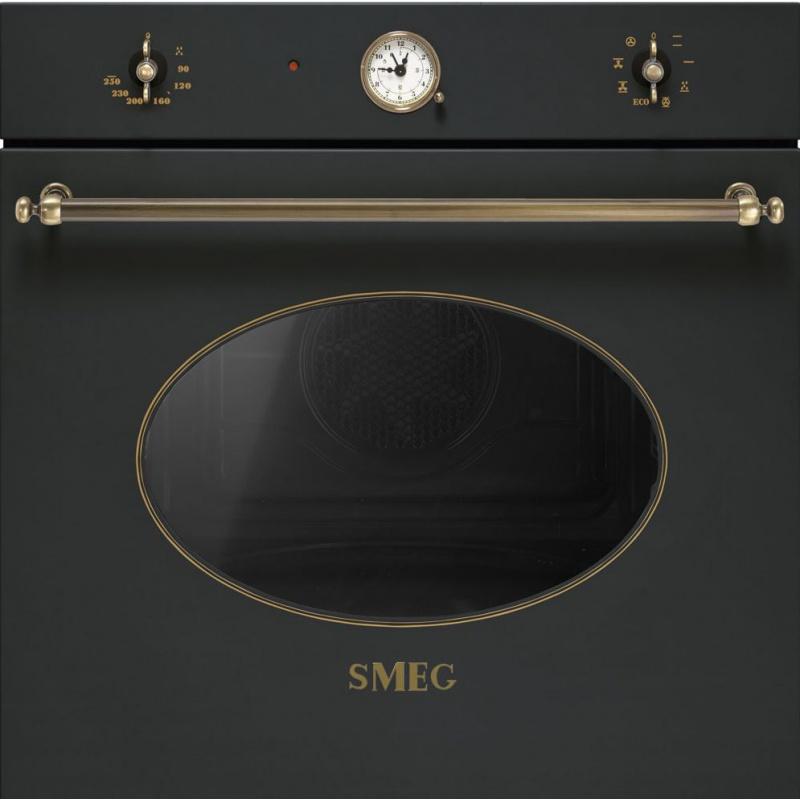 Cuptor incorporabil Smeg Coloniale SFT805AO, electric, multifunctional, 60cm, negru antracit, curatare catalitica