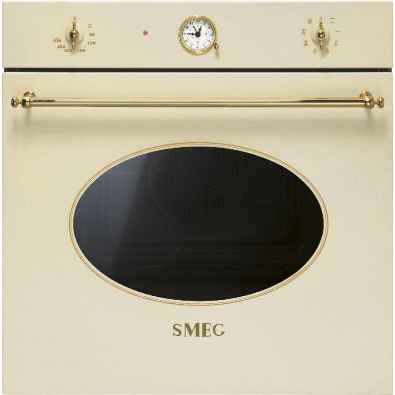 Cuptor incorporabil Smeg Coloniale SF805P, electric, multifunctional, 60cm, crem, curatare catalitica
