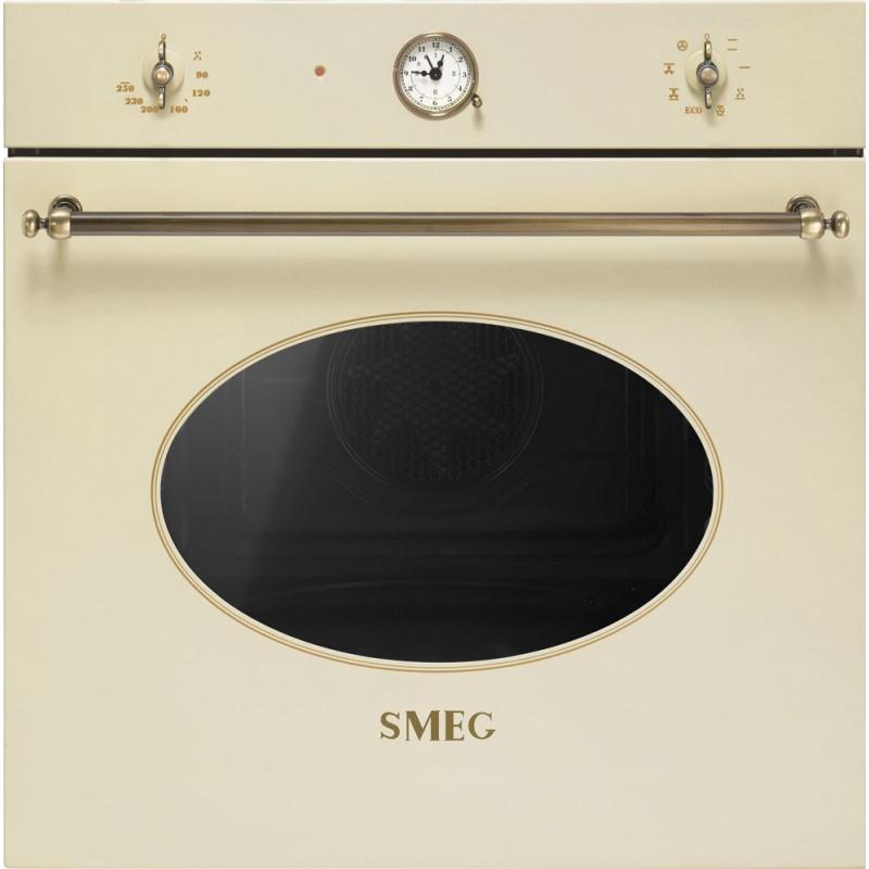 Cuptor incorporabil Smeg Coloniale SFT805PO, electric, multifunctional, 60cm, crem, curatare catalitica
