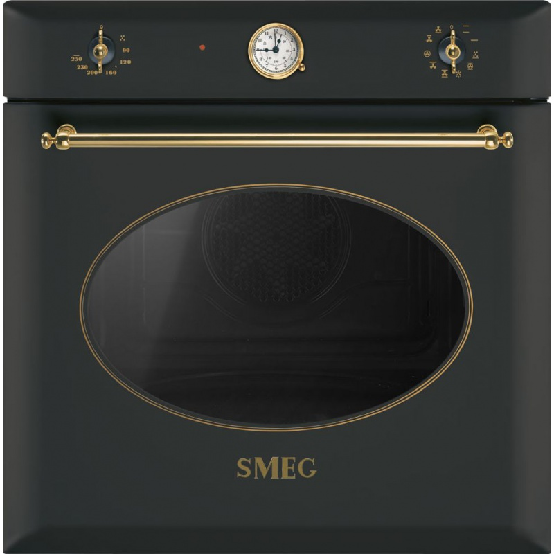 Cuptor incorporabil Smeg Coloniale SF855A, electric, multifunctional, 60cm, negru antracit