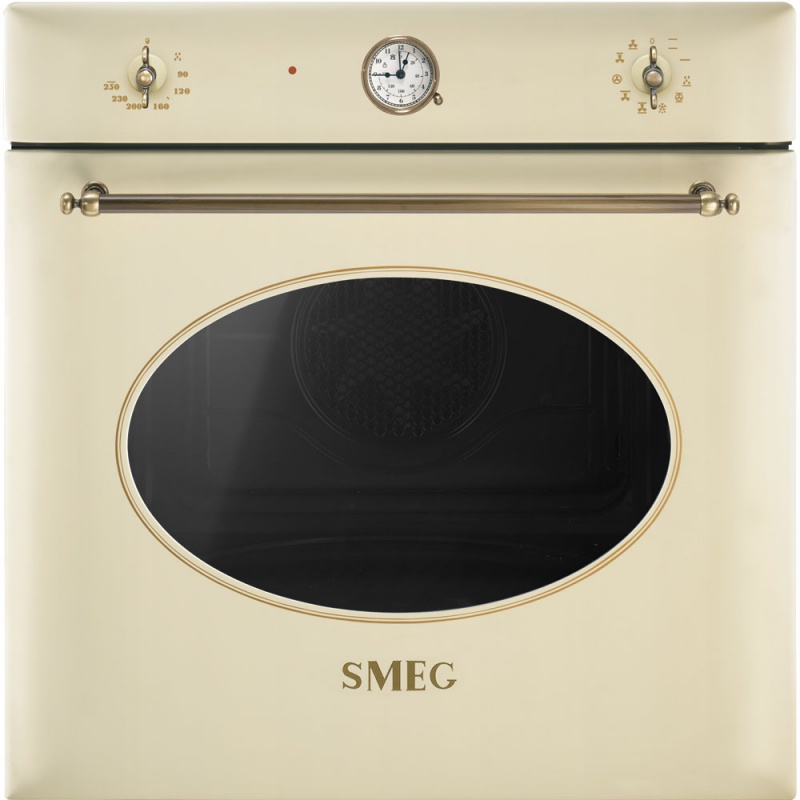 Cuptor incorporabil Smeg Coloniale SF855PO, electric, multifunctional, 60cm, crem