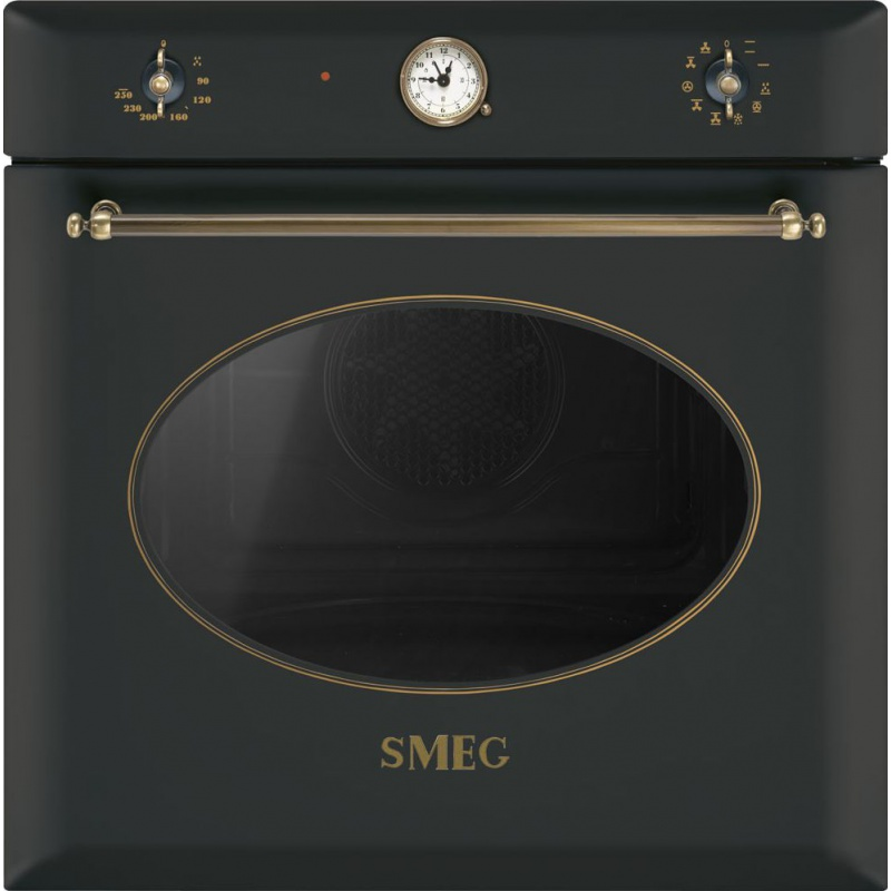 Cuptor incorporabil Smeg Coloniale SF855AO, electric, multifunctional, 60cm, negru antracit