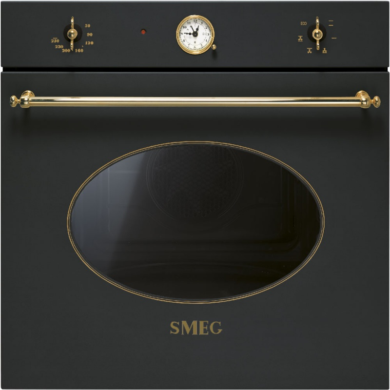 Cuptor incorporabil Smeg Coloniale SF800A, electric, multifunctional, 60cm, negru antracit