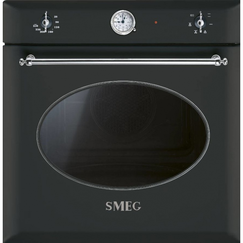 Cuptor incorporabil Smeg Coloniale SF850A, electric, multifunctional, 60cm, negru antracit