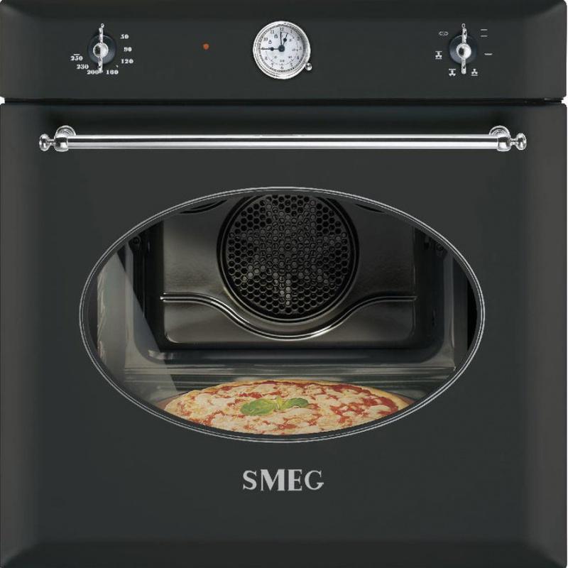 Cuptor incorporabil Smeg Coloniale SF850APZ, electric, multifunctional, 60cm, negru antracit, pizza