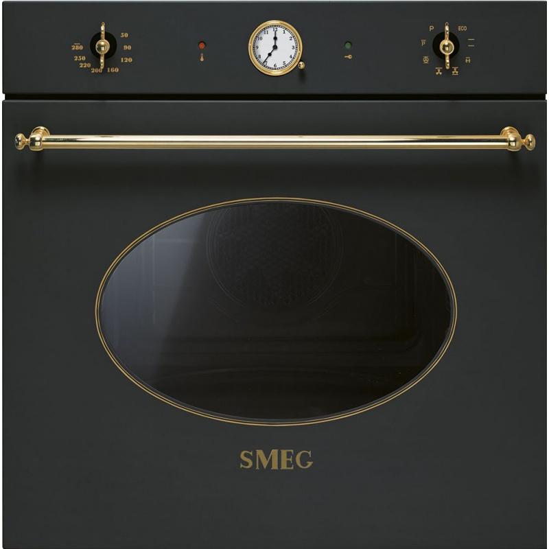Cuptor incorporabil Smeg Coloniale SFP805A, electric, multifunctional, 60cm,rotisor, negru antracit, piroliza