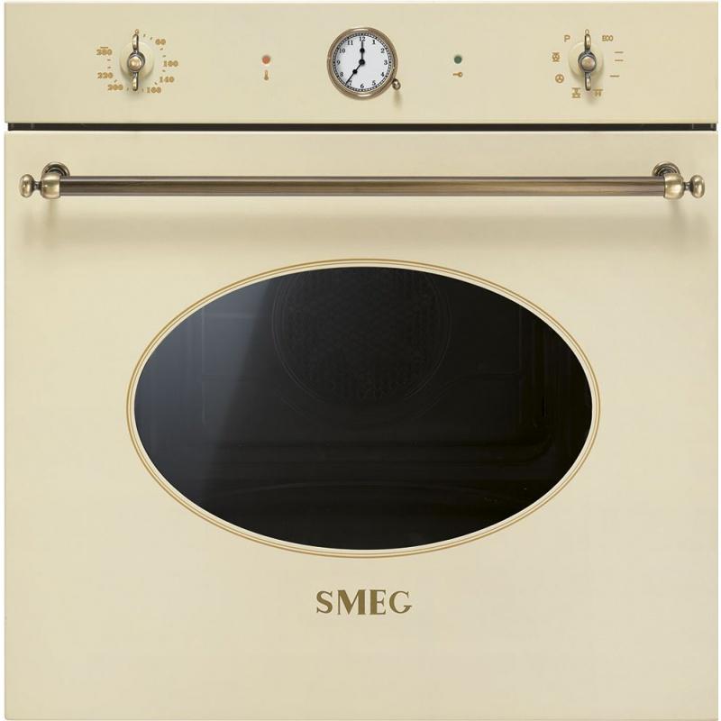 Cuptor incorporabil Smeg Coloniale SFP805PO, electric, multifunctional, 60cm,rotisor, crem, piroliza