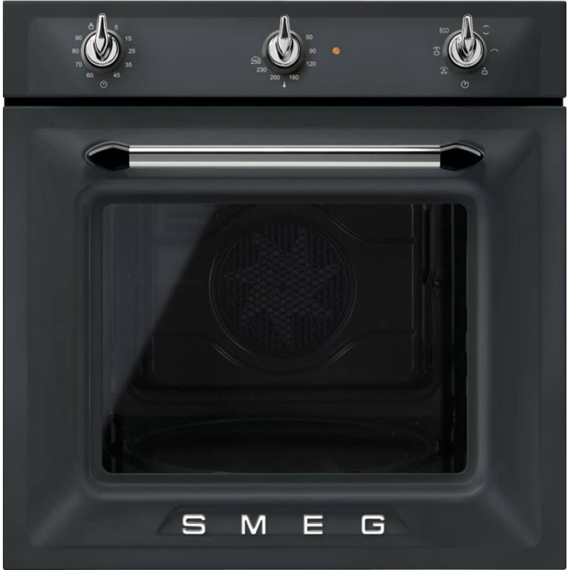 Cuptor incorporabil Smeg Victoria SF6903NO, electric, multifunctional, 60cm, negru mat