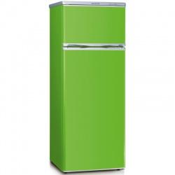 Frigider cu 2 usi Severin Color editions KS 9796, Clasa A++, 173 KWh/an, 212L, Verde