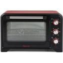 Cuptor electric Girmi FE3000, 1600W, 30L, 230 grade, convectie, grill, timer, rosu/negru