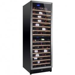 Racitor de vinuri Nevada Concept NW171D-S, 171 sticle, doua zone, negru/inox