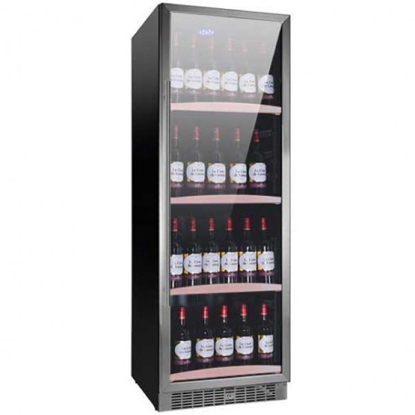 Racitor de vinuri Nevada Concept NW140S-S, 140 sticle, doua zone, negru/inox