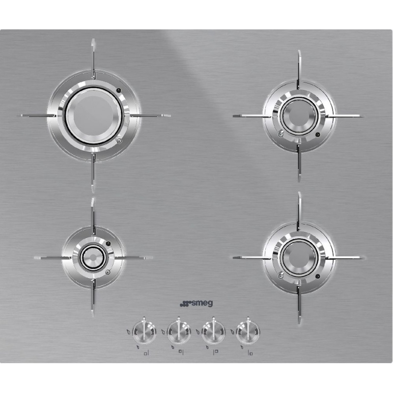 Plita incorporabila Smeg Dolce PXL664, 60 cm, plita gaz, 4 arzatoare,sistem siguranta Stop-Gaz, inox