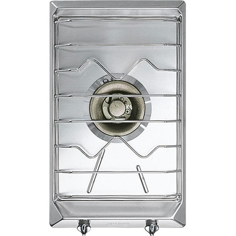 Plita incorporabila Smeg Domino Contemporanea SRV531X5, 30 cm, plita gaz, 1 arzator,sistem siguranta Stop-Gaz, inox