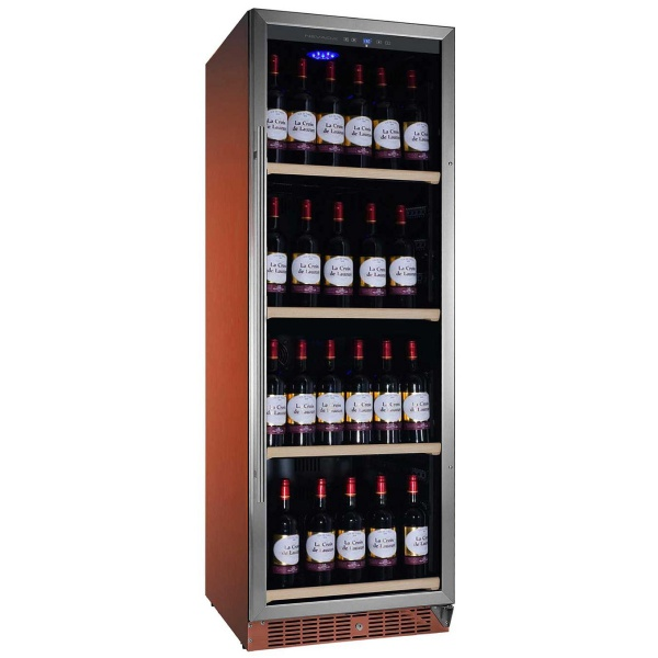 Vitrina de vinuri Nevada Color NW140S-S-C-8023, 140 sticle, doua zone, cupru