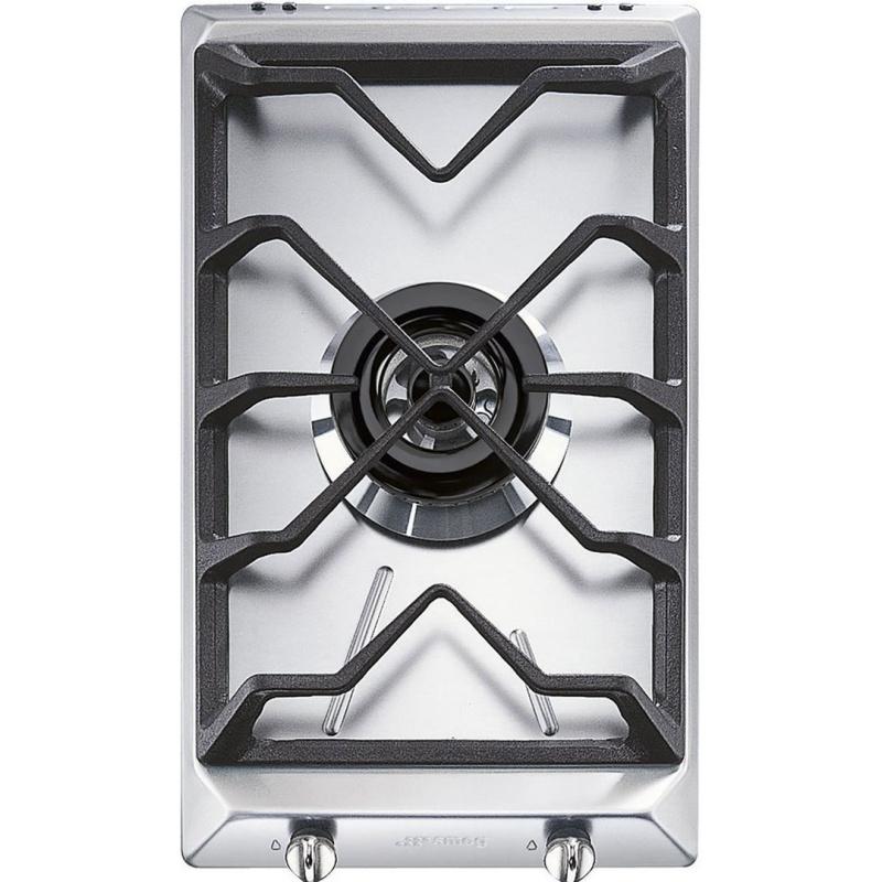 Plita incorporabila Smeg Domino Contemporanea SRV531GH5, 30 cm, plita gaz, 1 arzator,sistem siguranta Stop-Gaz, inox