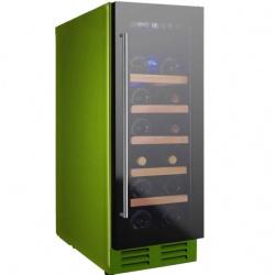Vitrina de vinuri Nevada Color NW20S-FG-C-6018, 20 sticle, verde (RAL 6018)