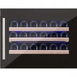 Vitrina de vinuri incorporabila Nevada Concept NW24S-FG, 24 sticle, negru