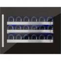 Vitrina de vinuri incorporabila Nevada Concept NW24S-FGL, 24 sticle, negru