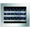Vitrina de vinuri incorporabila Nevada Concept NW24S-SSL, 24 sticle, inox