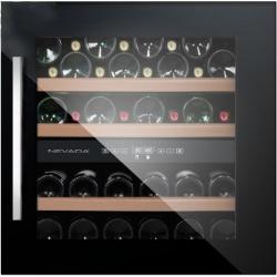 Vitrina de vinuri incorporabila Nevada Concept NW40D-FG, 40 sticle, doua zone, negru